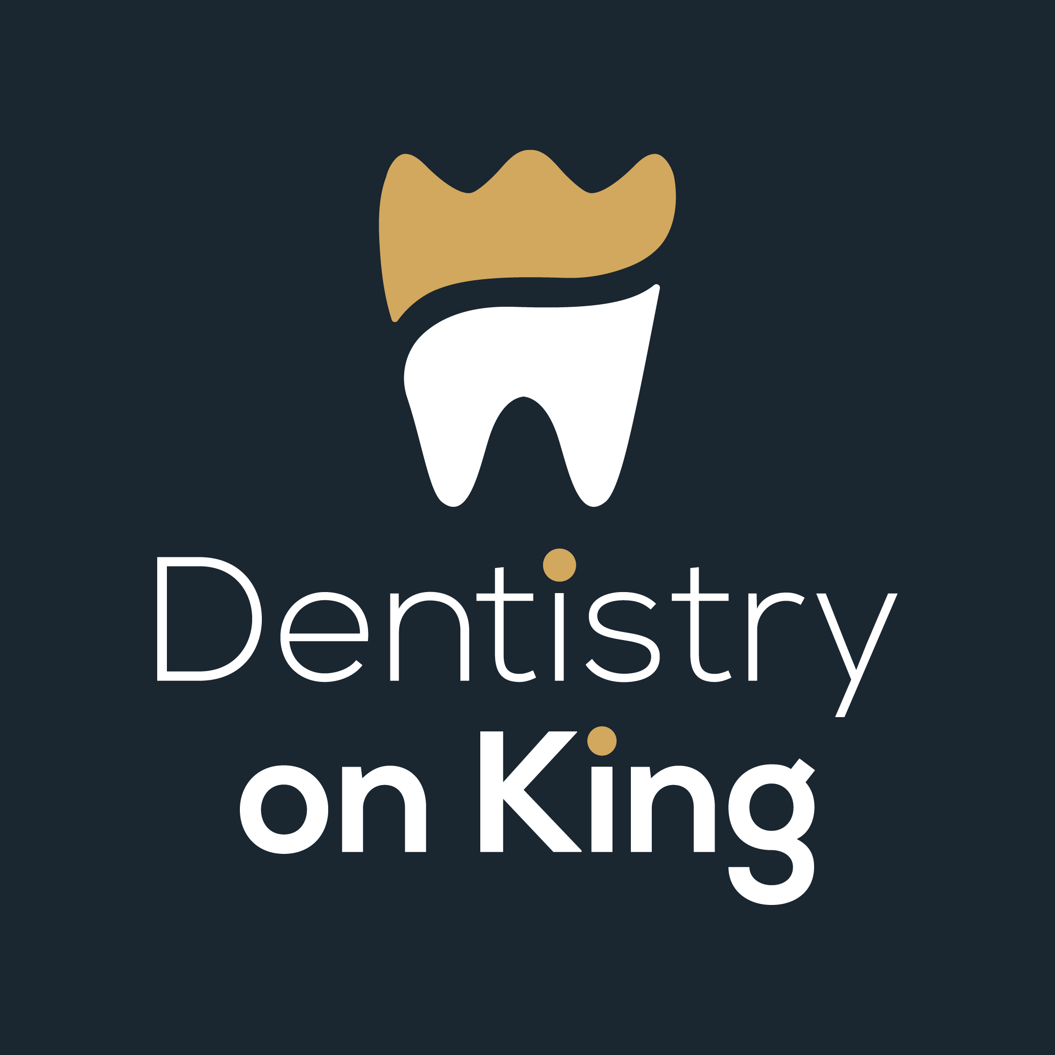 desntisty on king scroll logo