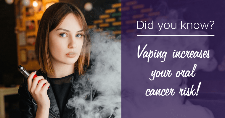 Vaping and oral cancer risk