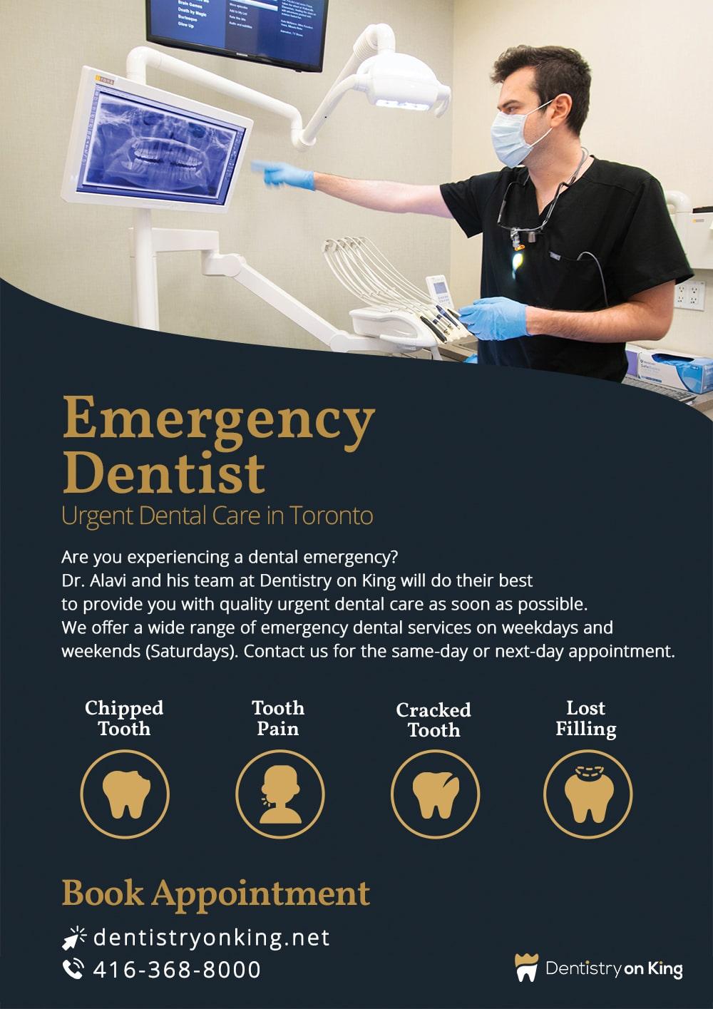 Emergency Dentist in Toronto, Dr. Mahan Alavi of Dentistry on King