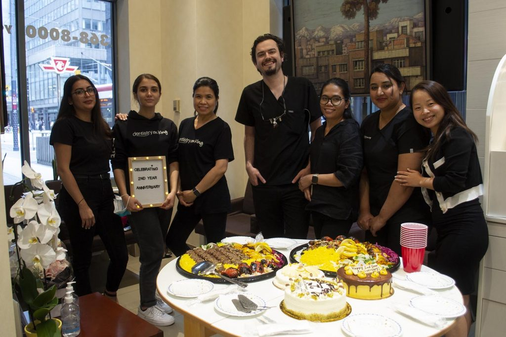 Dr. Alavi and Dentistry on King Team Celebrating